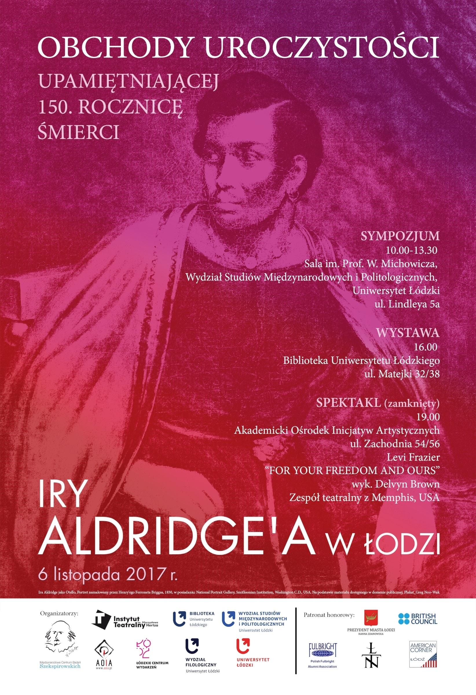 PLAKAT Aldrige jako Otello 1 2 internet 25.10 min